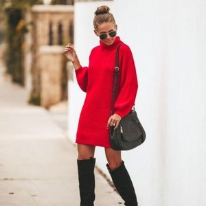 Vici red sweater dress